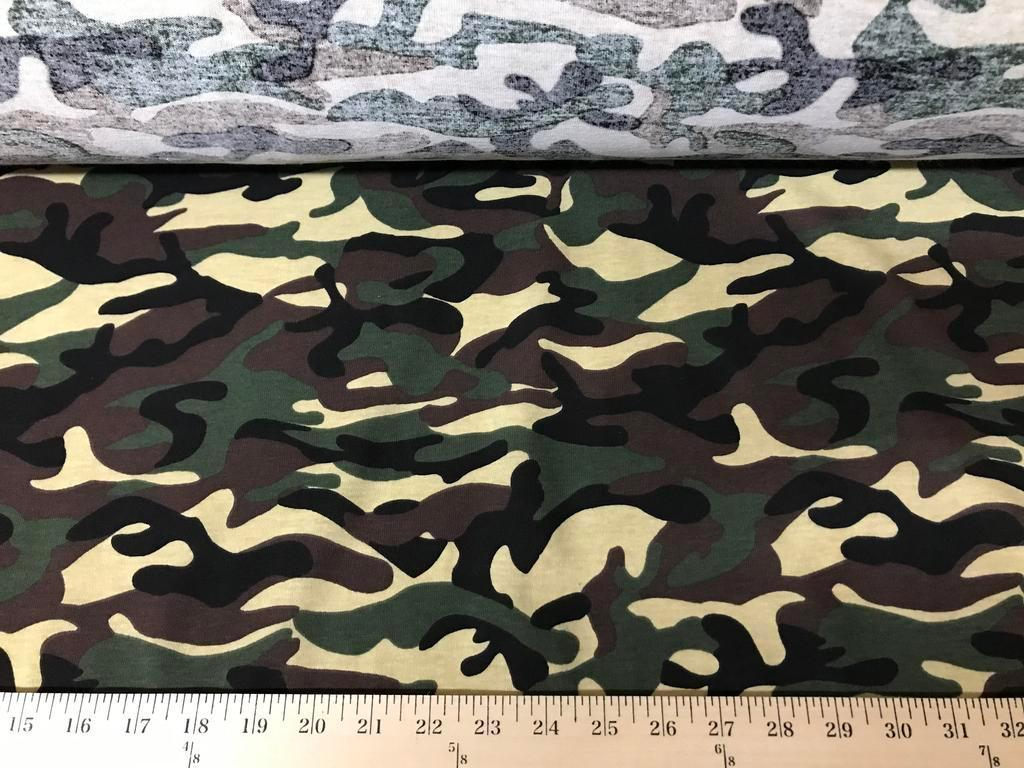 Army Camouflage Cotton Jersey Knit CP-1