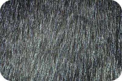 Long Pile METALLIC SHAGGY fur CHARCOAL