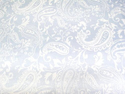 Paisley Charmeuse Satin BABY BLUE