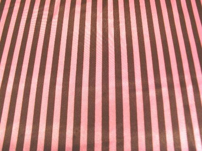 Striped Charmeuse Satin BROWN/HOT PINK