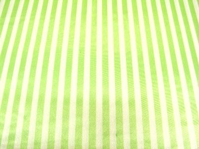 Striped Charmeuse Satin LIME
