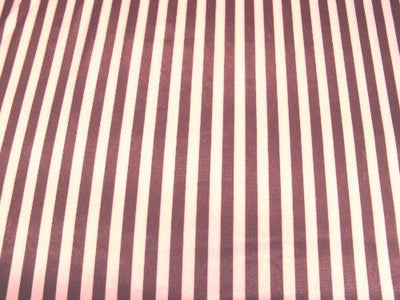 Striped Charmeuse Satin BROWN/PINK