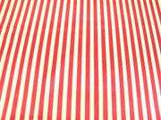 Striped Charmeuse Satin RED