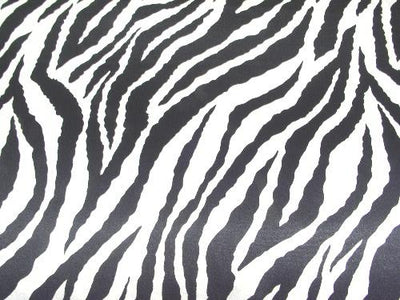 Zebra Charmeuse Satin BLACK/WHITE