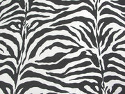 Zebra Charmeuse Satin WHITE/BLACK LARGE
