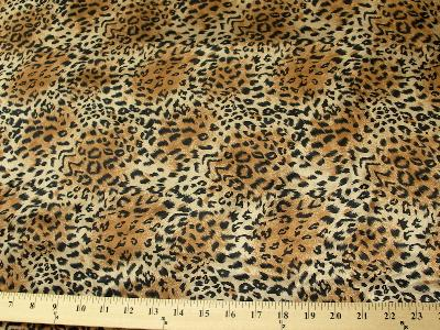 Cheetah Charmeuse Satin BROWN BLACK CH-1