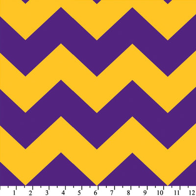 Premium Anti-Pill Chevron Stripes Purple Gold Fleece 516