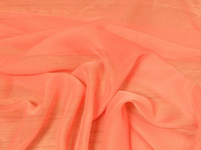 Chiffon 44 Inch Wide CORAL ORANGE