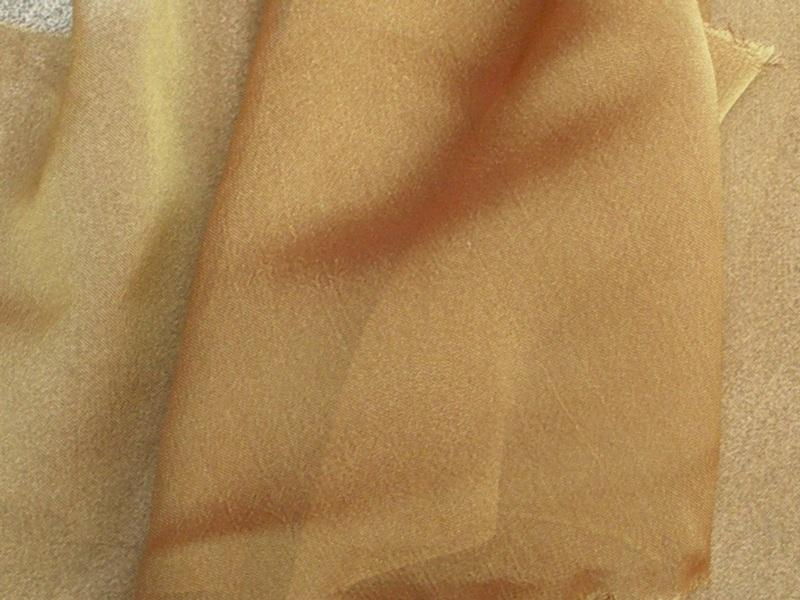 "Two Tone Chiffon 58"" GOLD RUST"