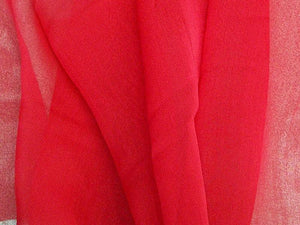 "Two Tone Chiffon 58"" RED"