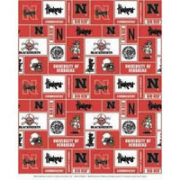 "Anti-Pill Nebraska University Fleece B353 ""LAST PIECE MEASURES 1 YARD 28 INCHES"""