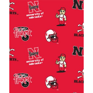 Premium Anti-Pill Nebraska, University Of Fleece B354