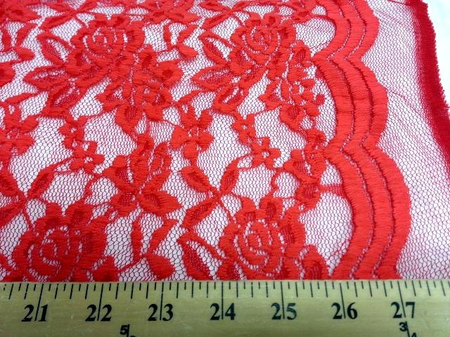 Jacquard Stretch Lace CORAL ORANGE