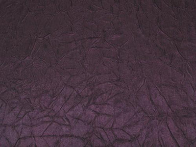 Crushed Charmeuse Satin PLUM