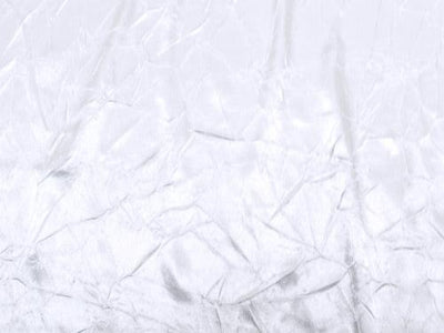 Crushed Charmeuse Satin WHITE