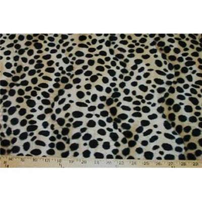 Velboa Animal Skins Fur Dalmation Tan