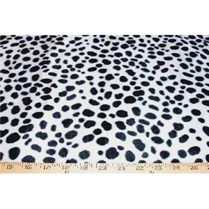Velboa Animal Skins Fur Dalmation Spots