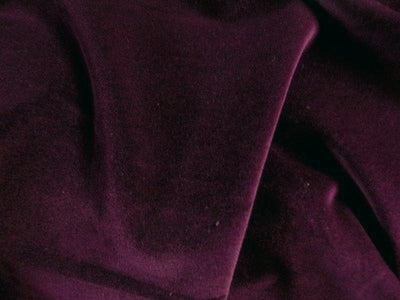 100% Cotton Med/Light Weight Velvet DARK BURGUNDY