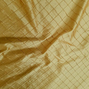 "Embroidered Pintuck Silk Dupioni 50"" DARK GOLD"