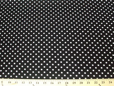 Polka Dot Dull Satin WHITE 1/4