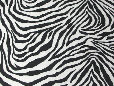 Large White Zebra Spandex SP-41