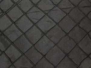 "Taffeta Diamond Pintuck 110"" WIDE BLACK"