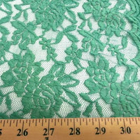 Jacquard Stretch Lace EMERALD (selvage on one edge only)