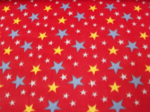 Stars Red Fleece 329