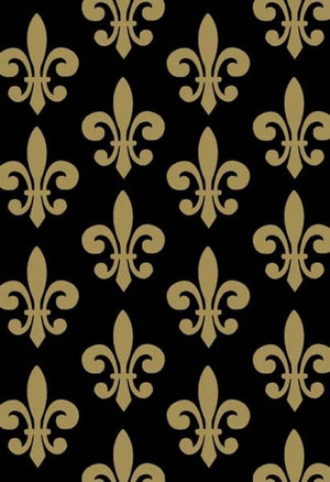 Premium Anti-Pill Fleur De Lis Gold Fleece 570