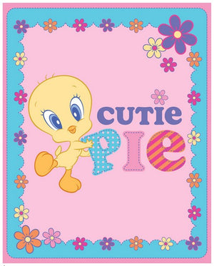 Premium Anti-Pill Tweety Bird Cutie Pie Panel Fleece B109