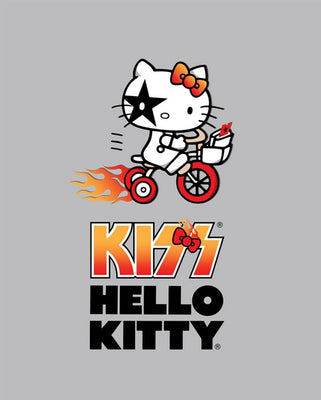 Premium Anti-Pill Hello Kitty Bicycle Kiss Panel Fleece B259