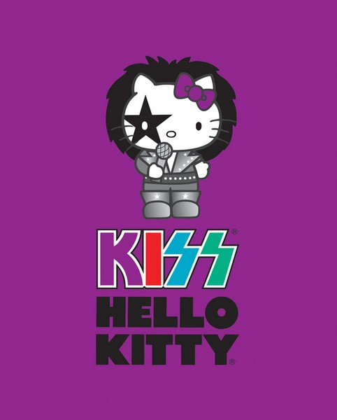 Premium Anti-Pill Hello Kitty Kiss Starchild Panel Fleece B266