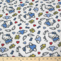 Anti-Pill Hello Kitty Angel Teddy Blue Fleece F461