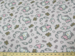 Anti-Pill Hello Kitty Angel Teddy Pink Fleece A5