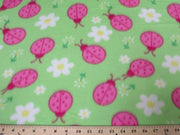Lady Bugs On Lime Fleece 334