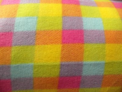 Premium Anti-Pill Pastel Plaid Stripes Fleece 60