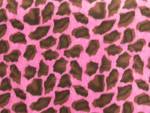 Giraffe Fuchsia Fleece 144