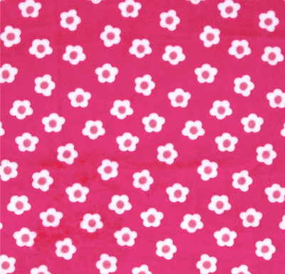 Misc Minky Cuddle Prints FUCHSIA FLOWER