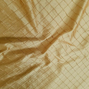 "Embroidered Pintuck Silk Dupioni 50"" GOLD"