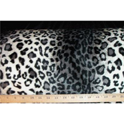 Velboa Animal Skins Fur Leopard Grey