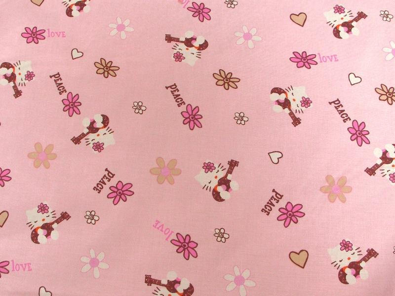 Hello Kitty Peace Pink Cotton HK-16