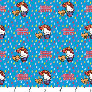 Hello Kitty Rainy Day Blue Cotton HK-23