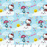 Hello Kitty Let It Rain Blue Cotton HK-24
