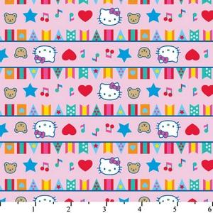 Hello Kitty Big Top Flags Pink Cotton HK-26
