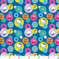 Hello Kitty Big Top Circle Images Blue Cotton HK-28