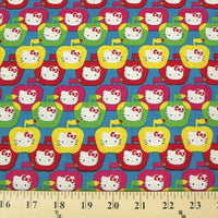 Hello Kitty Apples Blue Bright Cotton HK-3