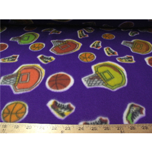 Hoops Purple Fleece 32