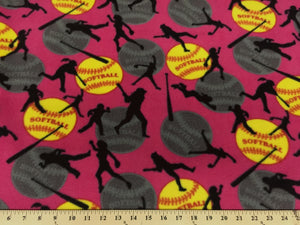 Anti-Pill Hot Pink Softball Fleece 477