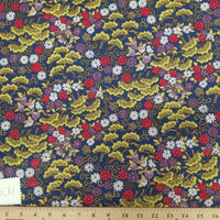 Blue Hawaiian Floral Cotton HP-504