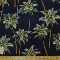 SWATCHES Blue/Green 100% Cotton Hawaiian Prints